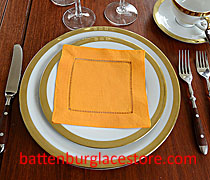 Apricot color cocktail napkink, napkins,hemstitch napkin