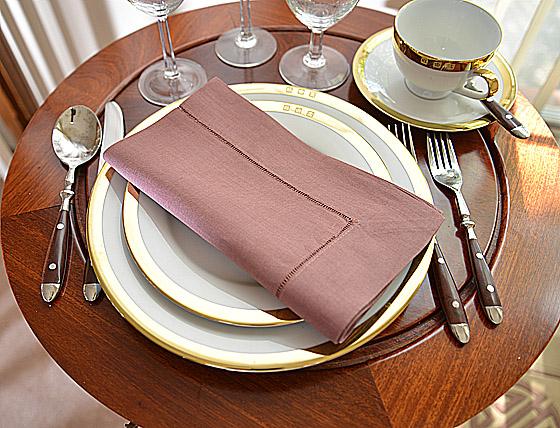 napkin, linen napkin, cotton napkin, hemstitch napkin.