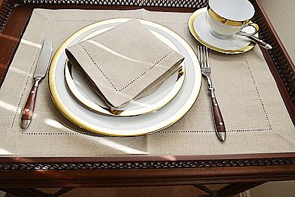 Linen Napkins, napkins, luncheon napkins, Sesame color linen napkins.