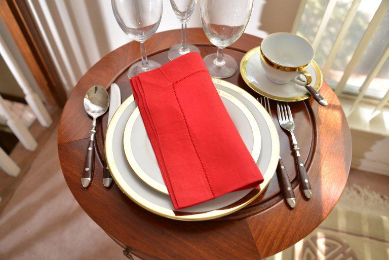 napkin, linen napkin, cotton napkin, hemstitch napkin
