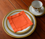 cocktail napkin, napkins, hemstitch napkins