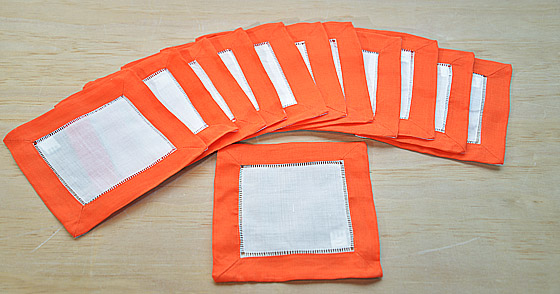 cocktail napkin, napkin, cotton napkin, spicy orange napkins.